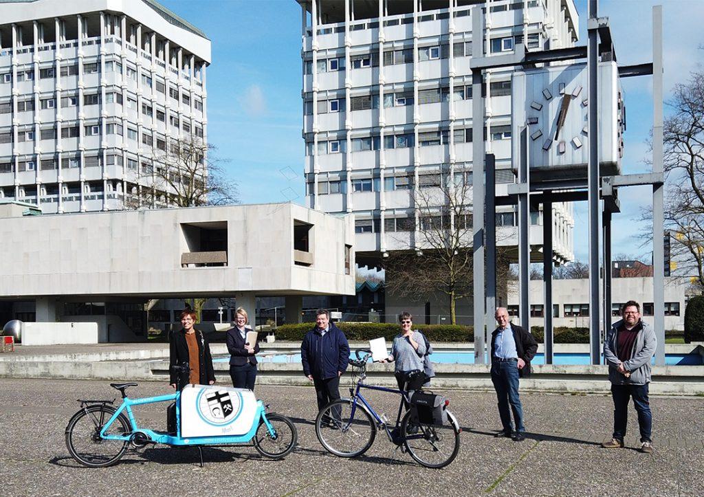Übergabe Kostenschätzung Stadt Marl an Radentscheid Marl