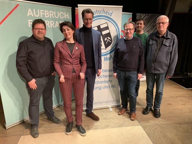 Radkomm e.V. -Diskussionsrunde mit Verkehrsminister Hendrik Wüst NRW